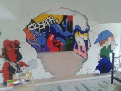 儿童房和主卧室的手绘墙画法
