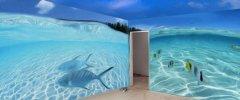 室内海洋3D墙绘欣赏