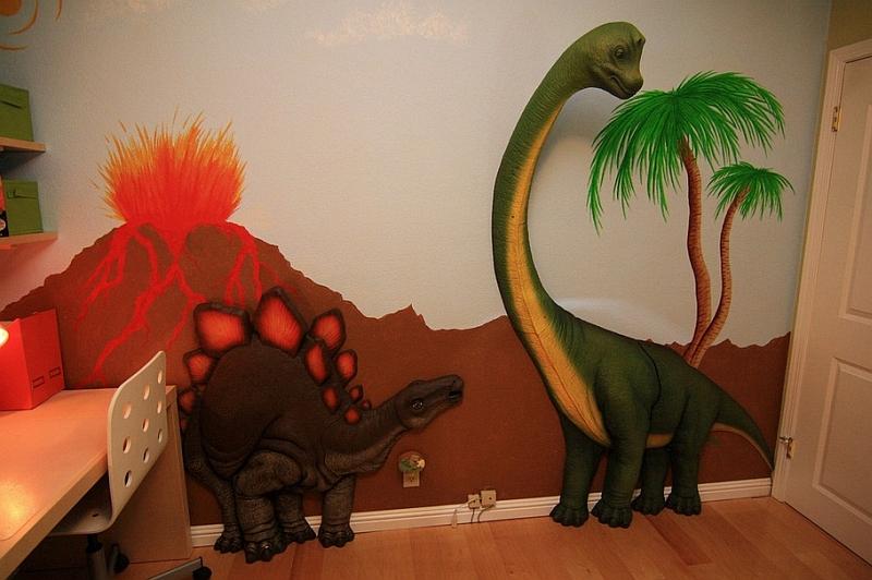 卡通恐龙壁画