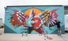 40多位艺术家前来参加赣州首届墙绘艺术节
