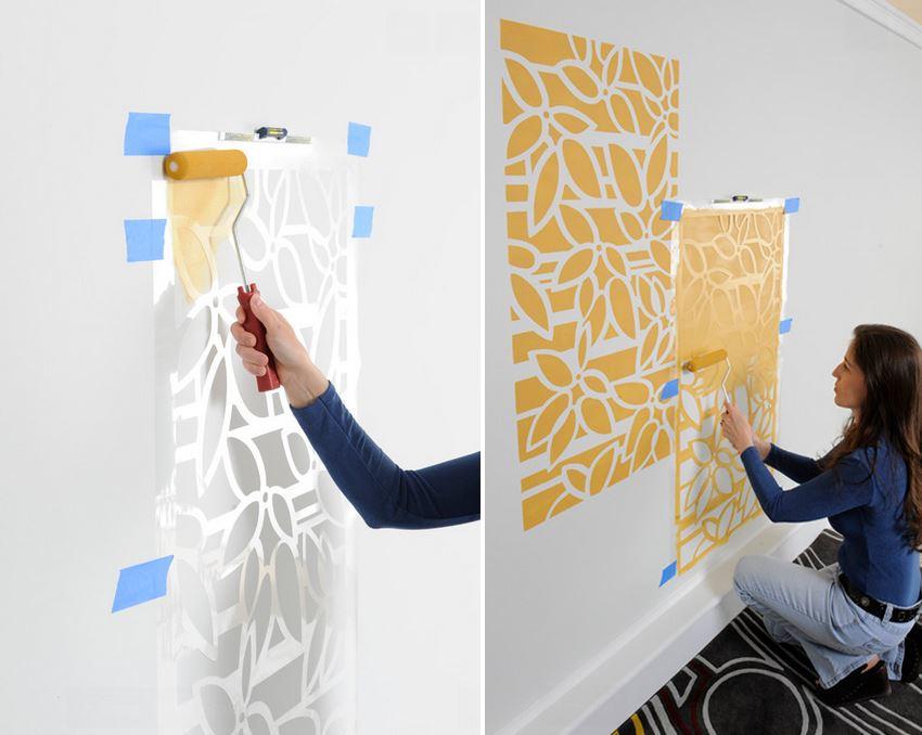 DIY模板墙绘