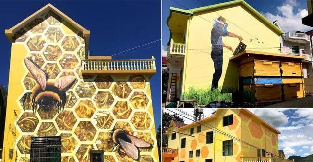 山村童话墙绘