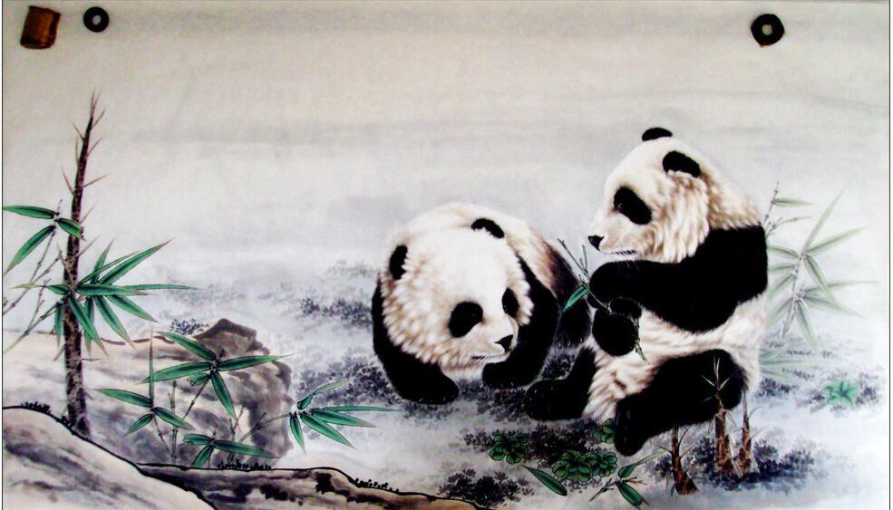动物墙绘主题之国宝熊猫