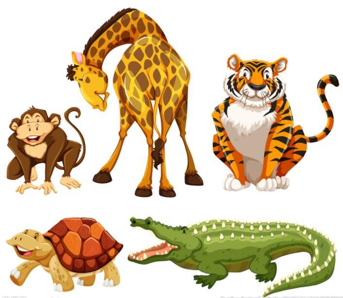 那些可爱的动物墙绘