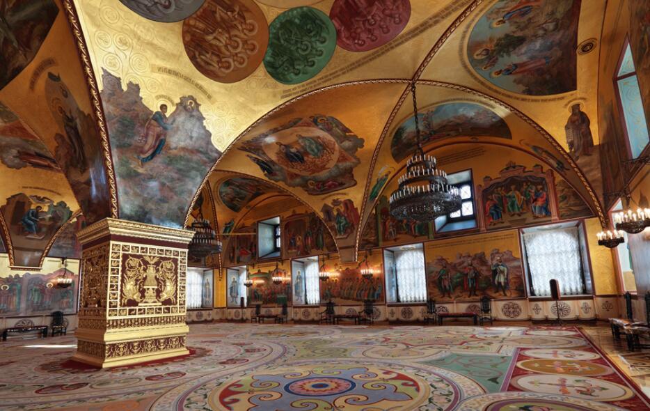教堂复古墙绘