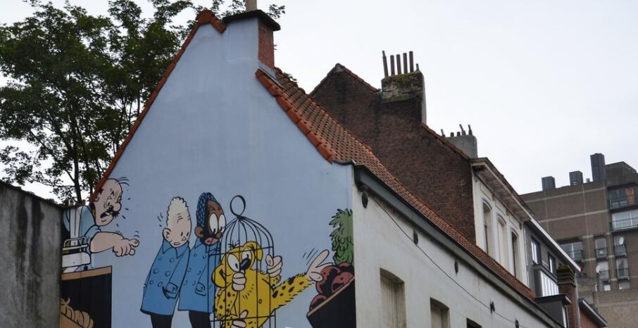 街头动画片墙绘主题