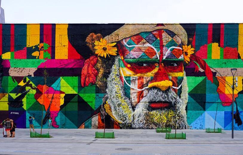 奥运巨幅墙绘