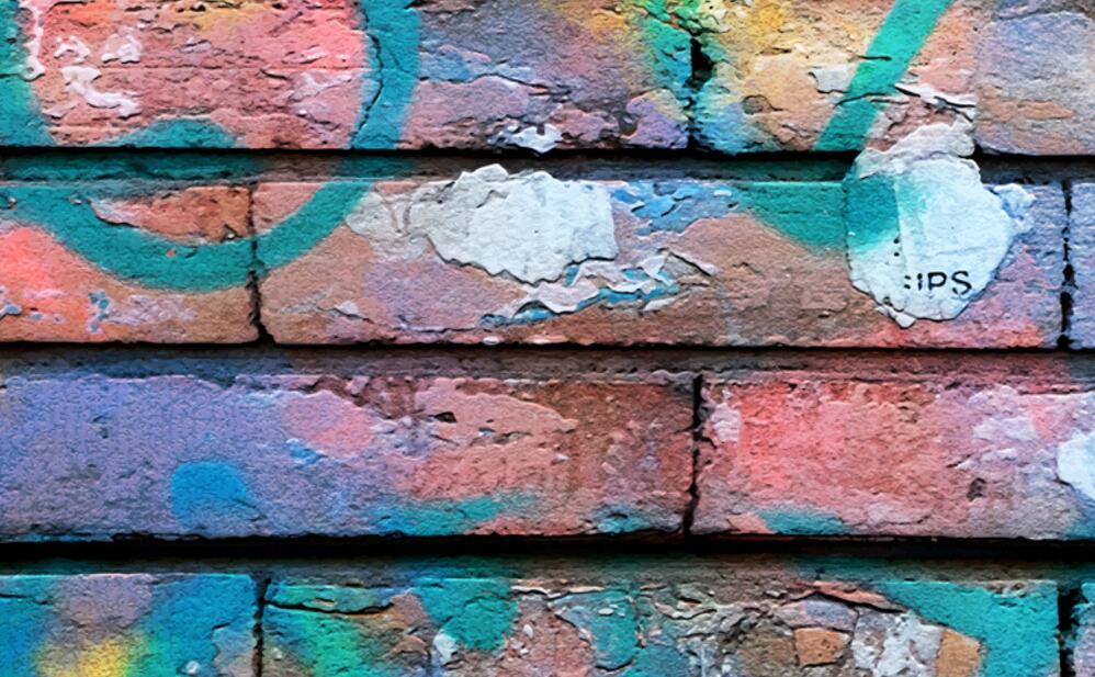 超逼真仿砖手绘墙