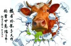超有创意的牛主题墙绘