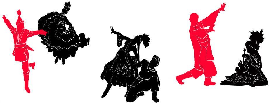 民族舞蹈墙绘主题
