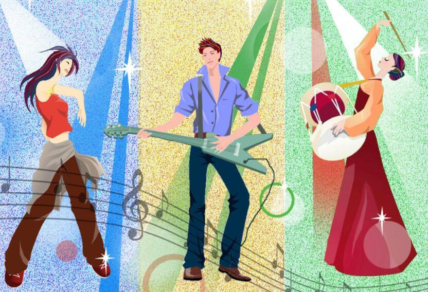 音乐舞蹈主题画