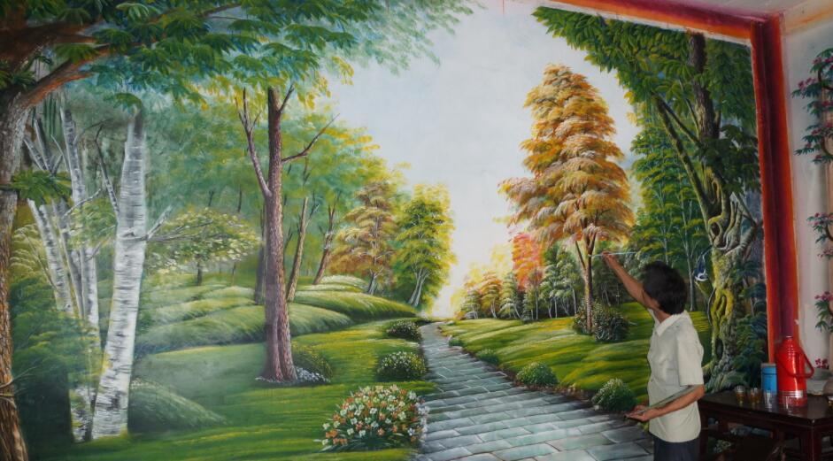 手绘墙墙绘