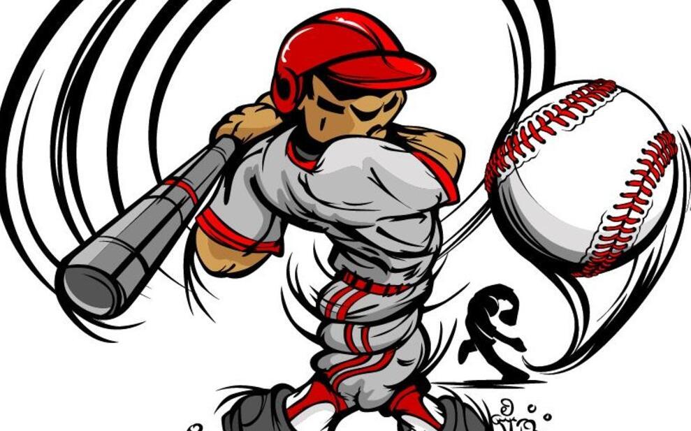 棒球动漫墙绘素材