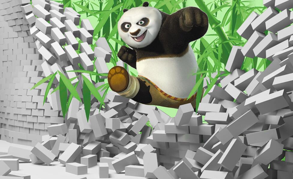 功夫熊猫影视3D赣州手绘墙