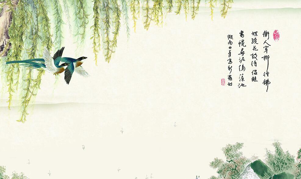 中式风格装修墙绘素材
