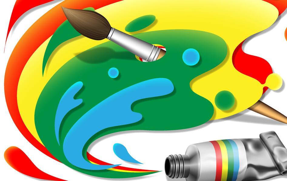 墙绘颜料的调和