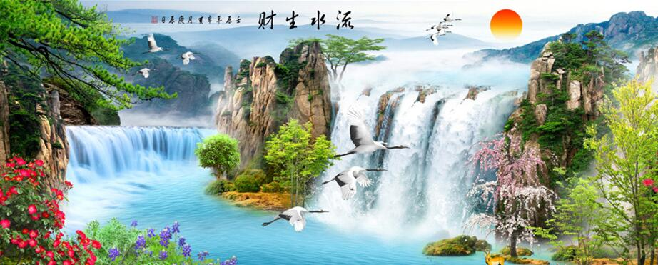 中式玄关主题墙绘