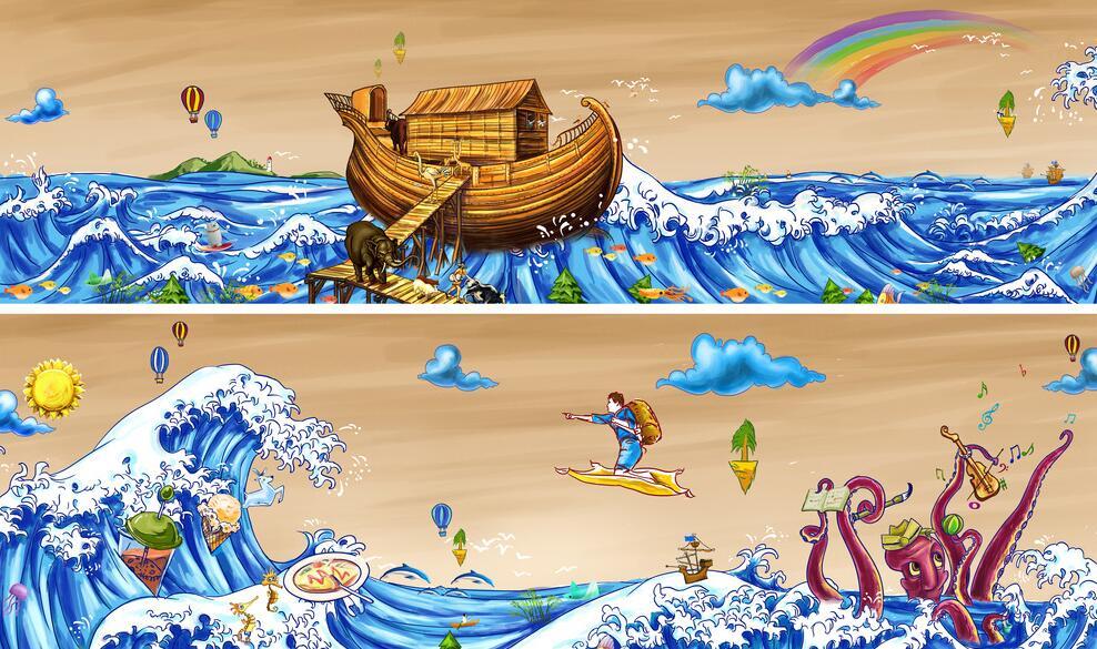 卡通海洋赣州墙画