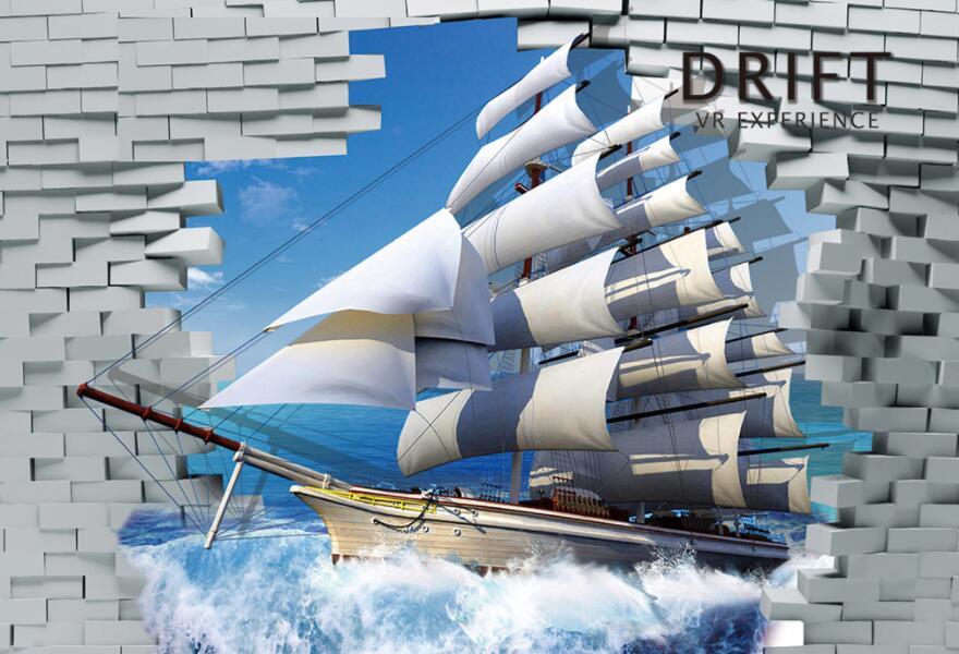帆船主题海洋墙绘素材