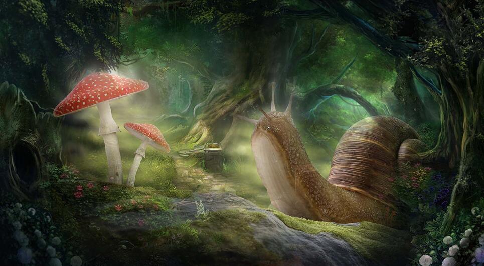 奇幻森林墙绘主题