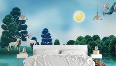 现代赣州卧室手绘墙展示