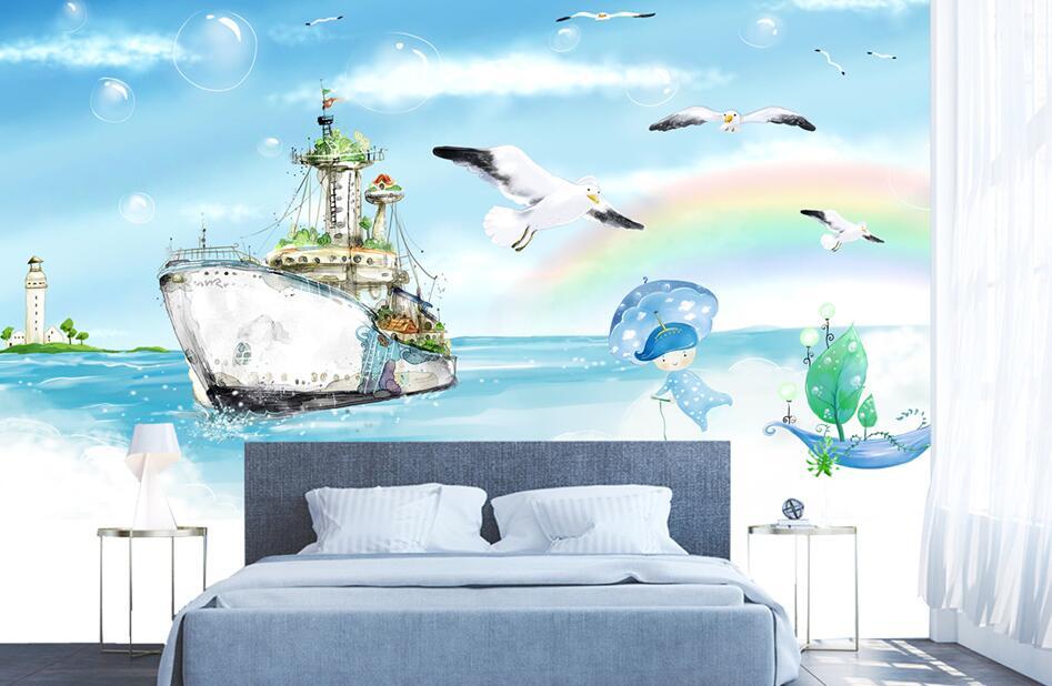 儿童卧室手绘墙主题