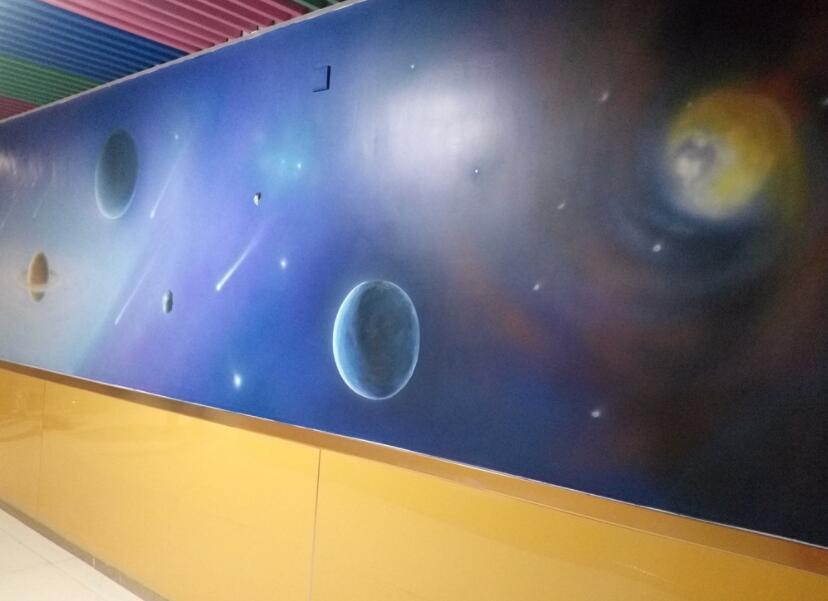 印象派星空墙绘素材