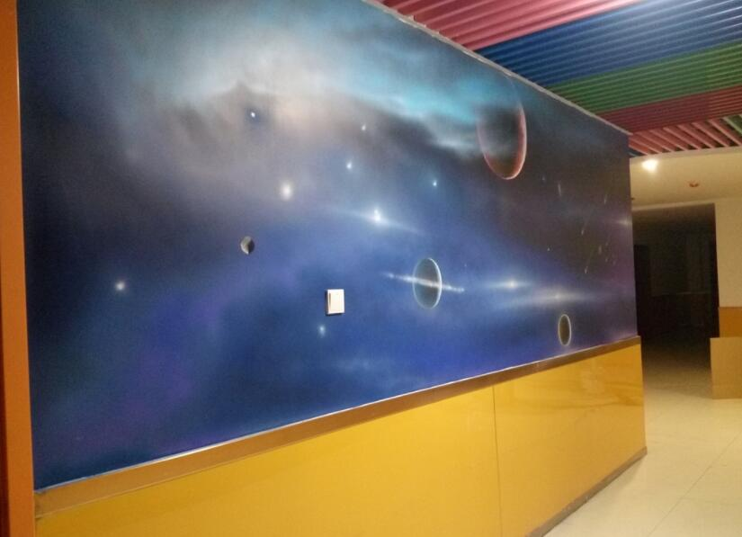 星空手绘墙
