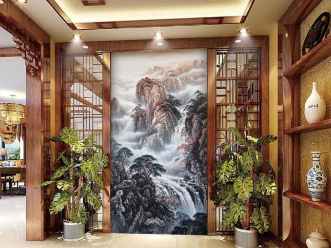复古硅藻泥墙绘艺术