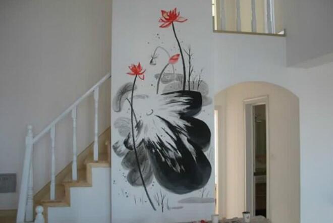丙烯手绘墙颜料