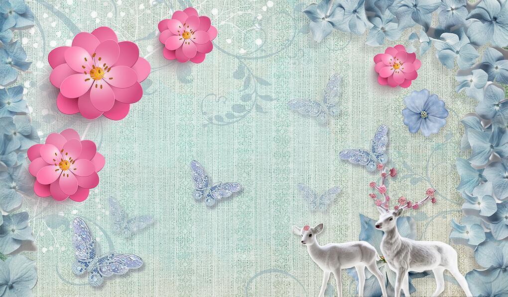现代家装艺术怎么少得了这些花卉墙绘