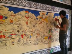 赣县古建寺庙墙绘壁画