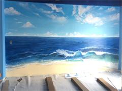 客厅3D壁画墙体彩绘