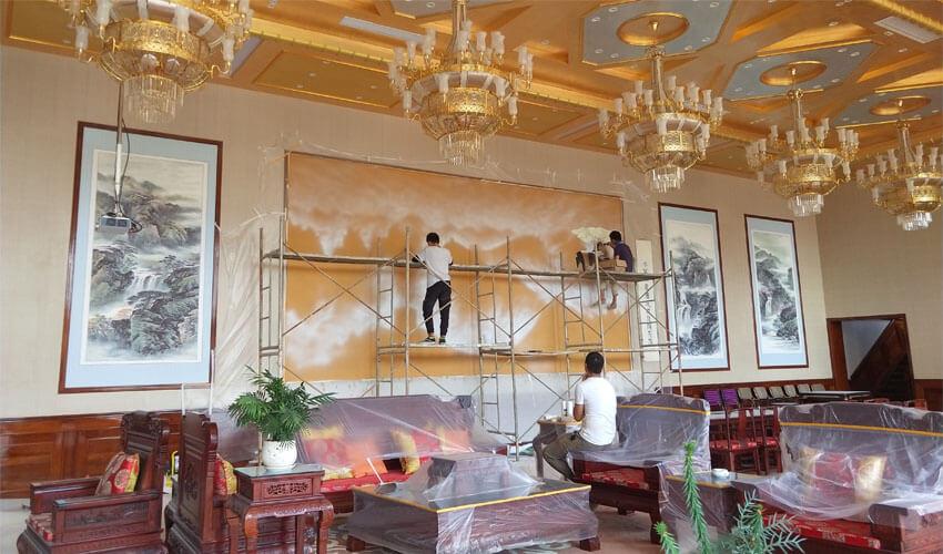 酒店会议厅大型墙绘壁画