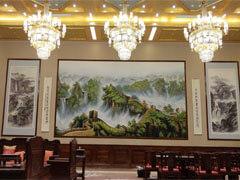 高档五星级酒店会议厅大型墙绘壁画