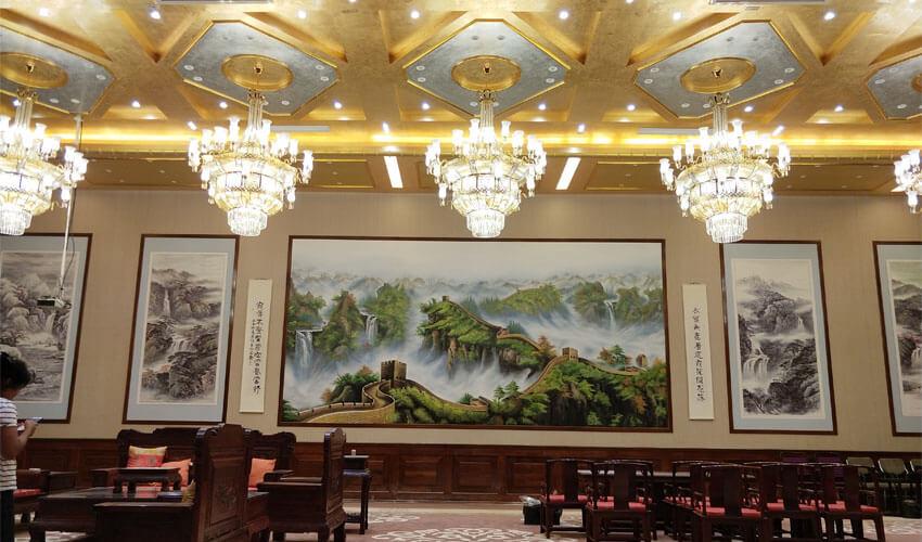 酒店会议厅成品墙绘
