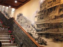 速写风格主题火锅店手绘壁画