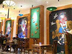 少数民族餐厅墙绘主题壁画