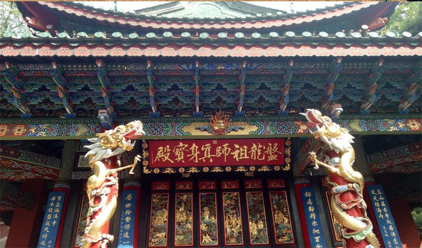 寺庙古建筑彩绘