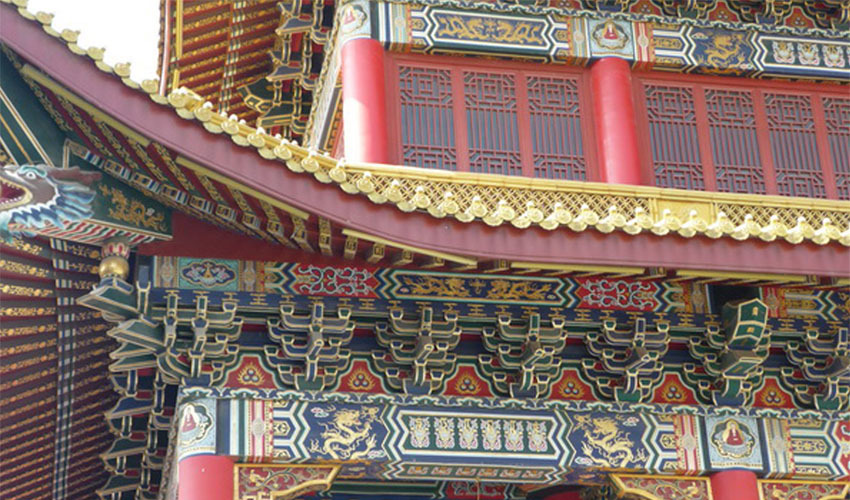 祠堂古建筑墙体彩绘