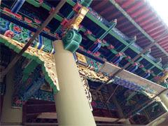 仿古古建筑柱子彩绘