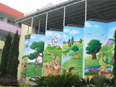 幼儿园卡通主题墙绘彩绘壁画