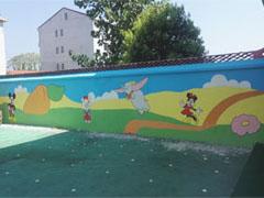 幼儿园围墙3D彩绘壁画