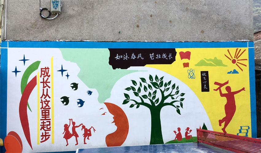 幼儿园围墙涂鸦墙绘
