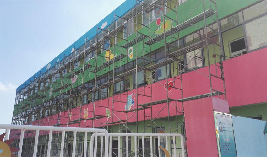 幼儿园外墙涂鸦墙绘