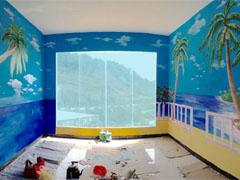 海洋风家装卧式背景3D彩绘