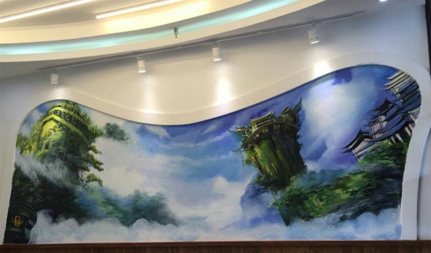 网吧游戏3D彩绘壁画