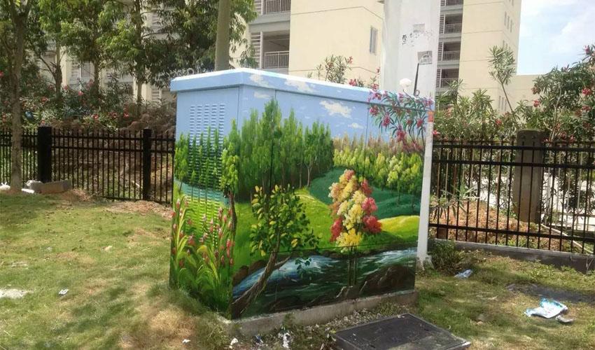 小区配电箱墙绘彩绘设计