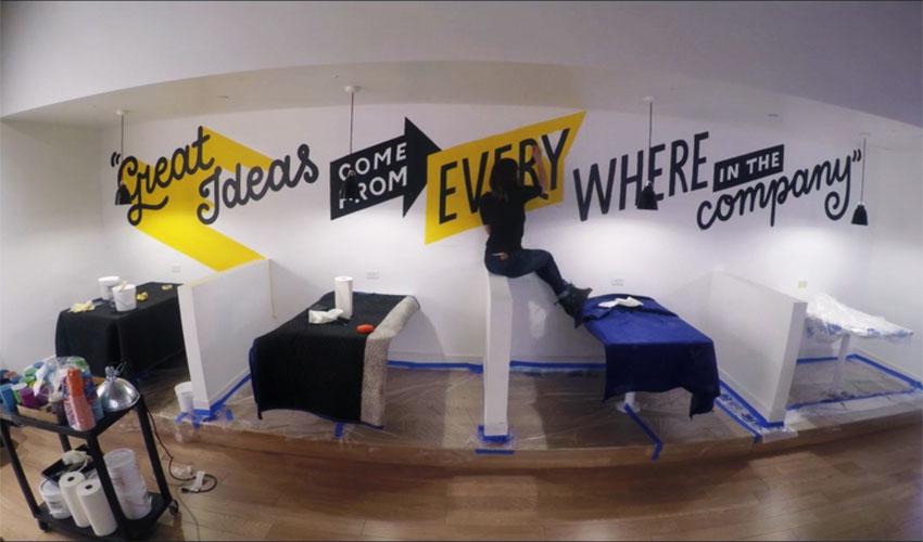 奶茶店涂鸦墙画
