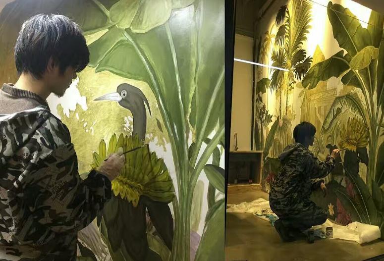 树木花卉主题墙绘